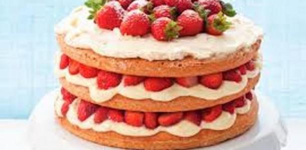 Torta Naked de Morango