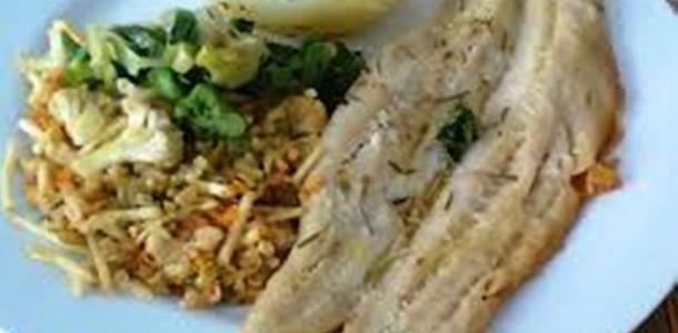 filé de pescado com alecrim