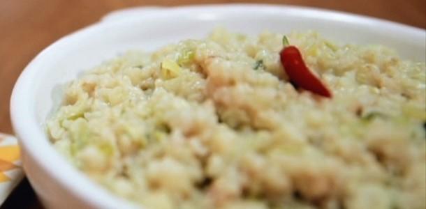 risoto de frango com requeijao