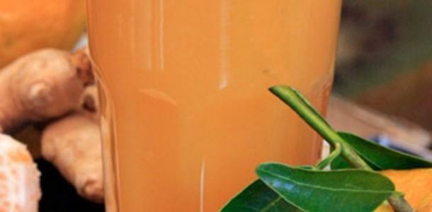 suco de tangerina com manga