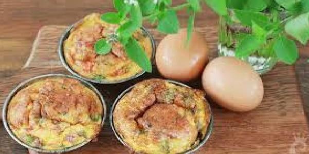 Mini Omelete de Legumes