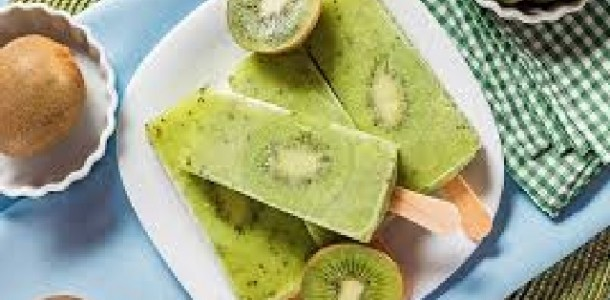 picolé fácil de kiwi