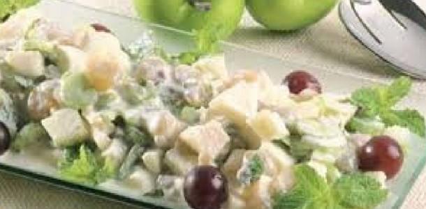 Salada de Peito de Peru com Abacaxi