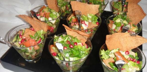 salada no copinho para o natal