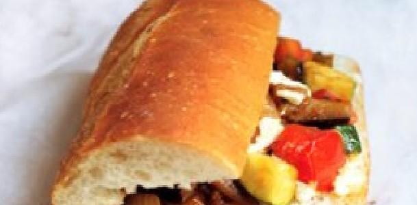 sanduíche ratatouille