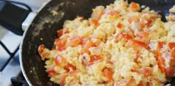 Ovos Mexidos para café da Manhã