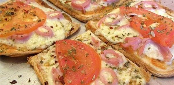 Pizza de Pão Simples