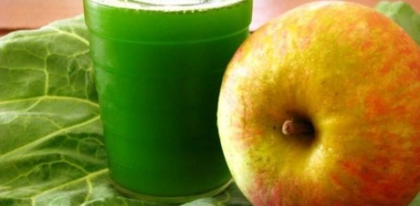 suco de couve com maçã