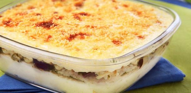 arroz com bacalhau e farofa doce