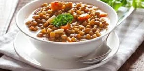 lentilha com verduras