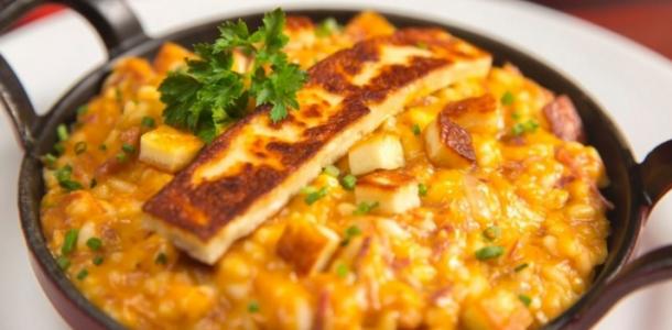 risoto de frango com queijo