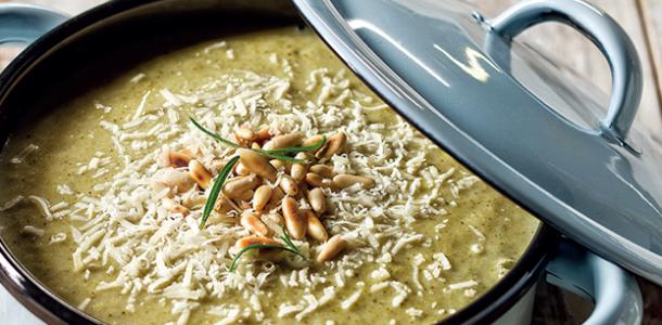 como fazer sopa de brócolis com feijão