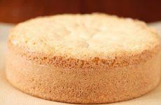 pão de ló para bolo de pote