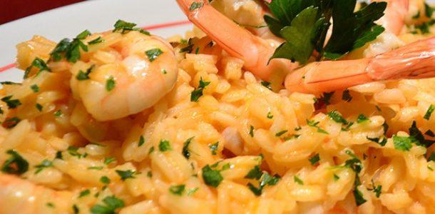 receita risoto de camarao