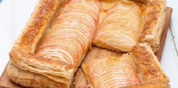 torta de maçã folhada
