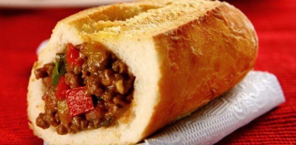 pão com carne moida
