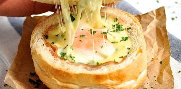 pão recheado com ovo