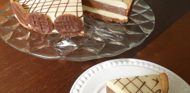torta de dois chocolates