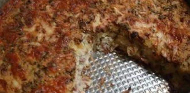 Torta de Arroz com Calabresa