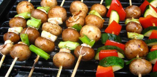 churrasquinho de legumes