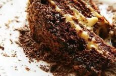 bolo de chocolate com doce de leite