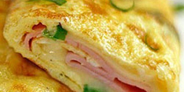 panqueca de omelete de presunto e queijo