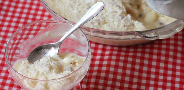 creme gelado com coco