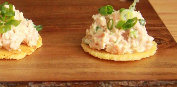 aperitivos de salmão