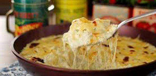 batata gratinada com gorgonzola