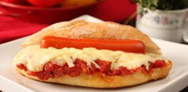hot dog a parmegiana