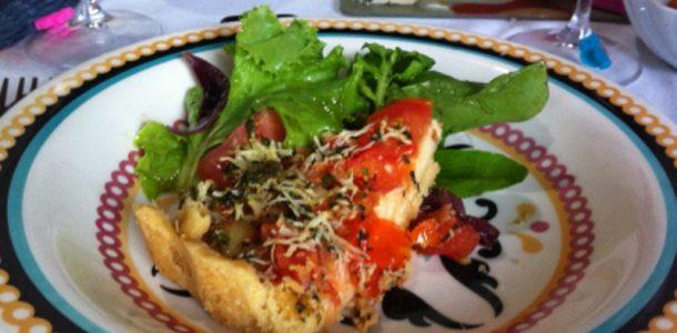 quiche de tomate e ervas
