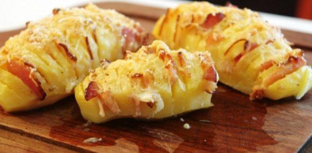 batatas com queijo e bacon