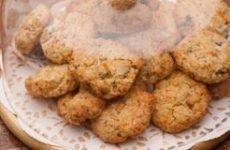 biscoito de baunilha com aveia