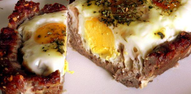 torta de carne moida com ovo