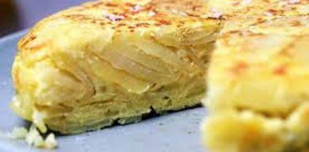 tortilha de batata com cebola