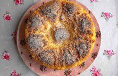 pão doce de coco com laranja