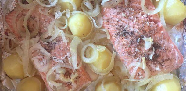 salmão no forno