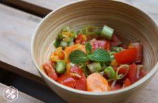 Salada com Damasco