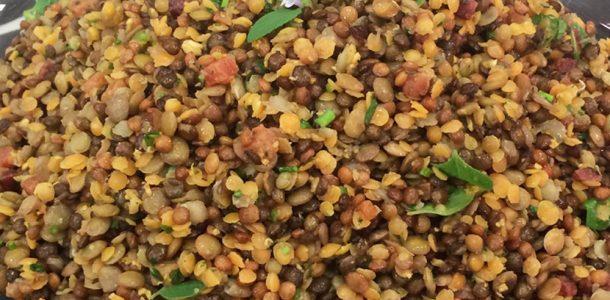 Salada de Lentilha pro Ano Novo